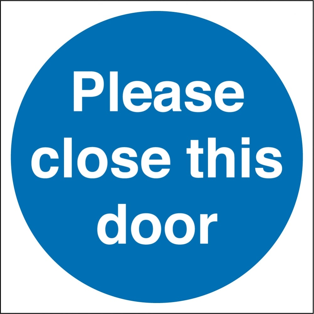 Close The Door >> Please Close This Door Signs From Key Signs Uk