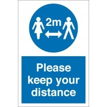 Please Keep Your Distance Signs