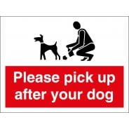 Please Pick Up After Your Dog Signs