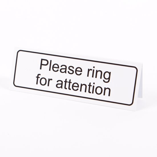 Please Ring For Attention Desktop Signs
