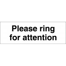 Please Ring For Attention Signs