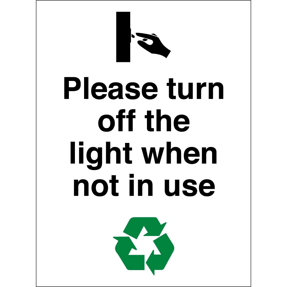 Very best Please Turn Off The Light When Not In Use Signs - from Key Signs UK FP93