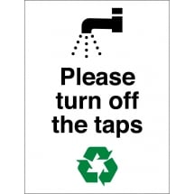 Please Turn Off The Taps Signs