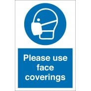 Please Use Face Coverings Signs