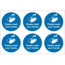 Please Wash Your Hands Labels