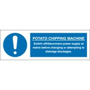 Potato Chipping Machine Signs