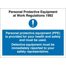 PPE Must Be Used Signs