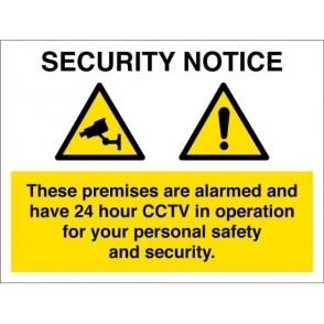 Premises Alarmed CCTV In Operation Signs