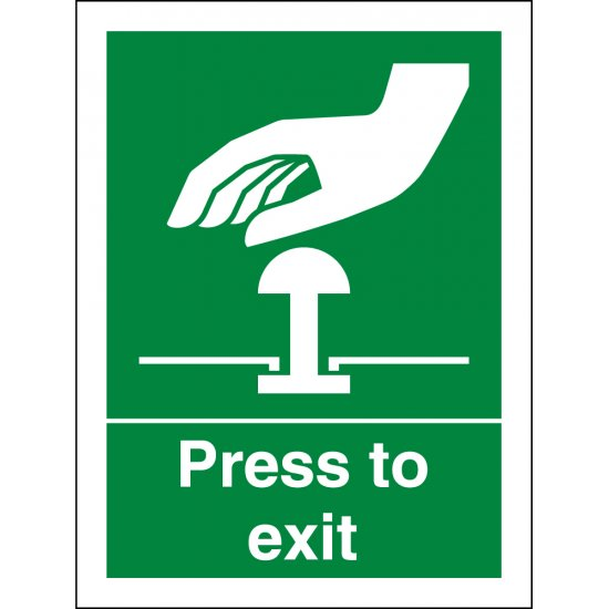 Press To Exit Signs