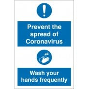 Prevent The Spread Of Coronavirus Wash Hands Frequently Signs