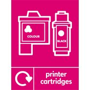Printer Cartridges Waste Recycling Signs