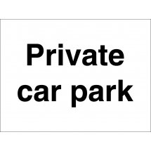 Private Car Park Signs