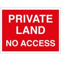 Private Land No Access Signs