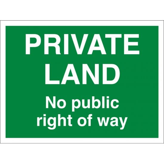 Private Land Right Of Way Signs