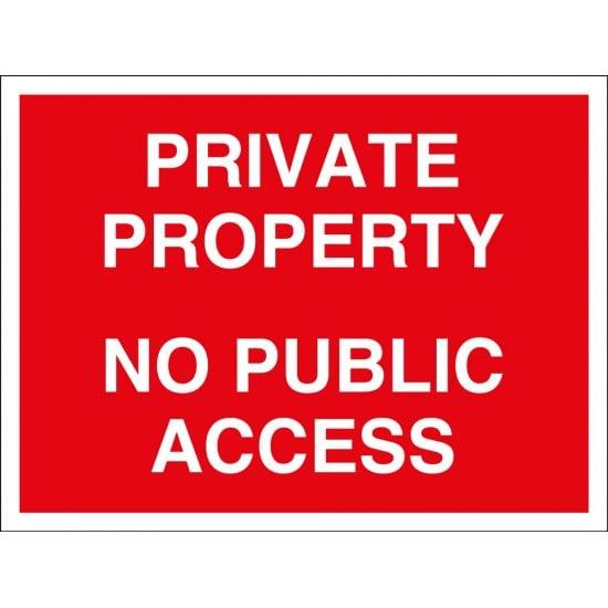 Private Property No Public Access Signs