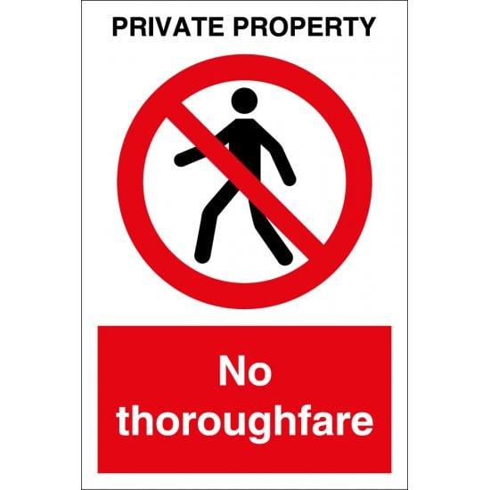 Private Property No Thoroughfare