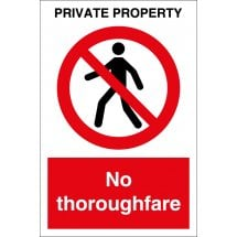 Private Property No Thoroughfare