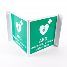 Projecting AED Defibrillator Signs