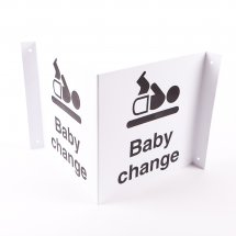 Projecting Baby Change Signs