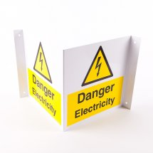 Projecting Danger Electricity Signs