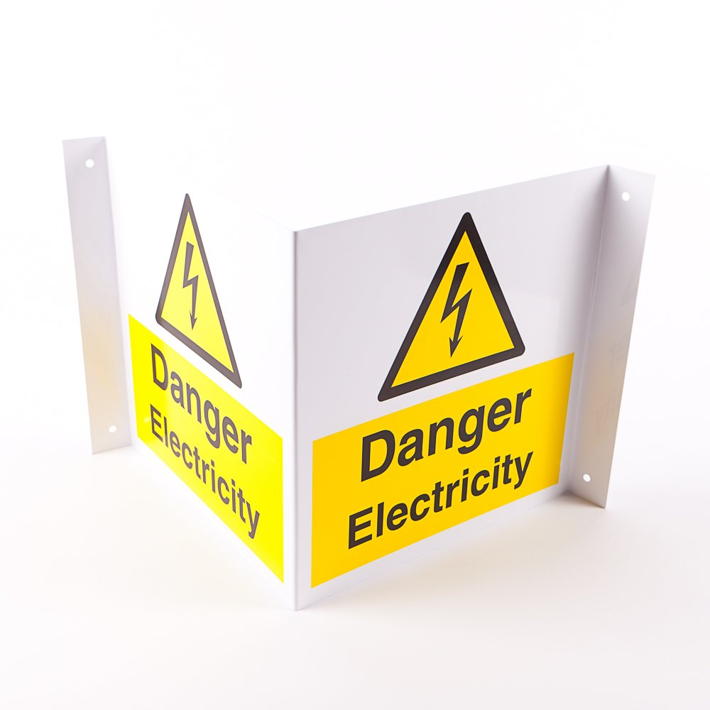 Projecting Danger Electricity Signs - from Key Signs UK