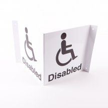 Projecting Disabled Toilet Signs