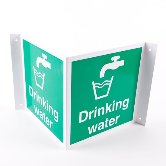 Projecting Drinking Water Signs