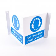 Projecting Ear Protection Signs