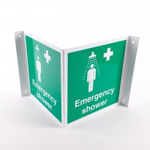 Projecting Emergency Shower Signs