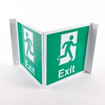 Projecting Exit Signs