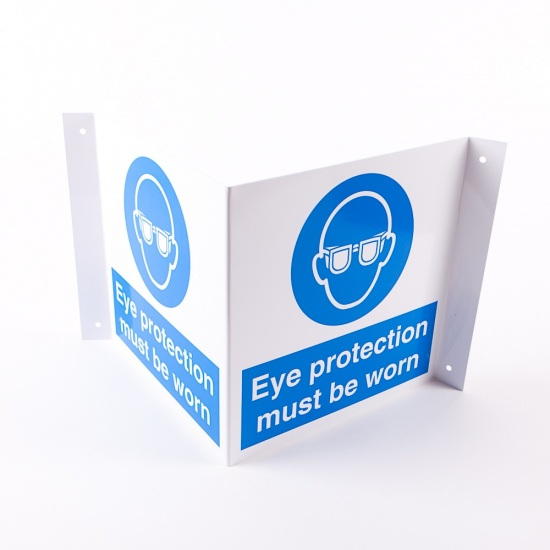 Projecting Eye Protection Signs