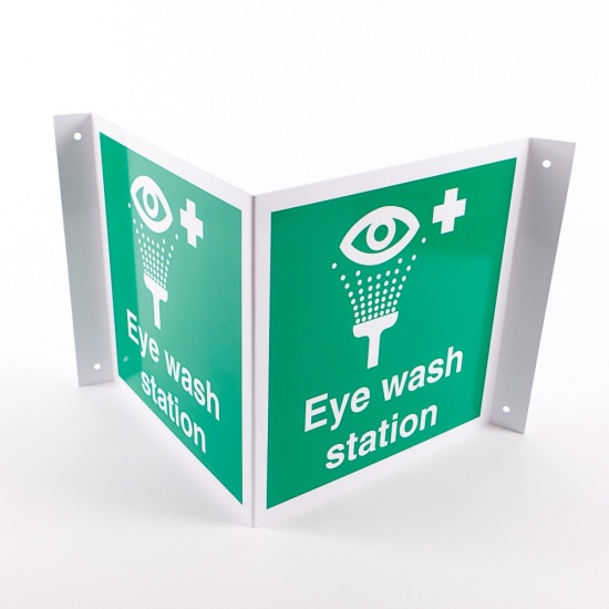 Projecting Eye Wash Station Signs