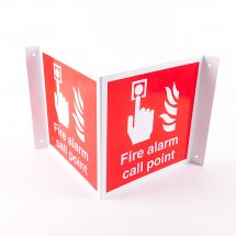 Projecting Fire Alarm Call Point Signs
