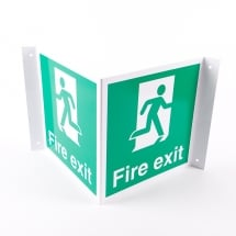Projecting Fire Exit Signs