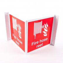 Projecting Fire Hose Reel Signs