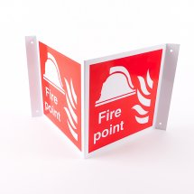 Projecting Fire Point Signs