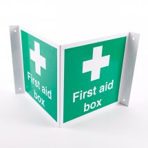 Projecting First Aid Box Signs