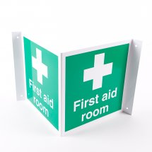 Projecting First Aid Room Signs