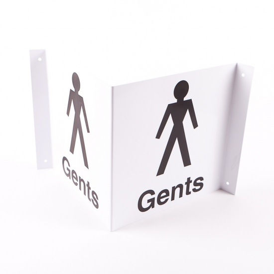 Projecting Gents Toilets Signs