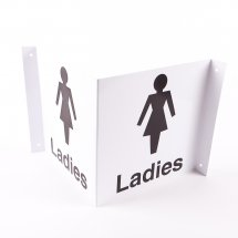 Projecting Ladies Toilets Signs