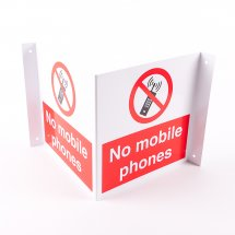 Projecting No Mobile Phones Signs