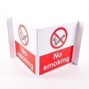 Projecting No Smoking Signs