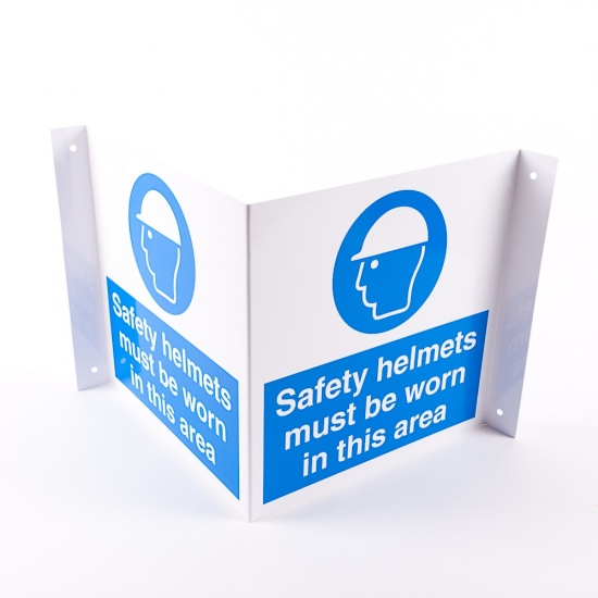 Projecting Safety Helmets Signs