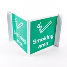 Projecting Smoking Area Signs