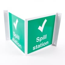 Projecting Spill Station Signs