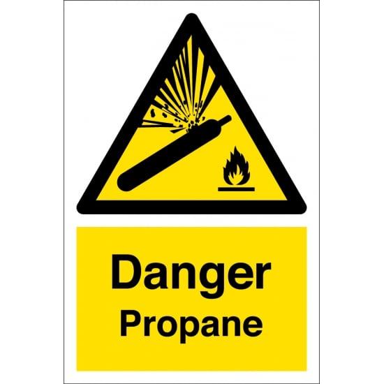 Propane Hazard Warning Signs