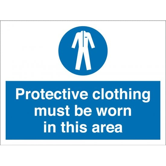 Protective Clothing Must Be Worn In This Area Signs