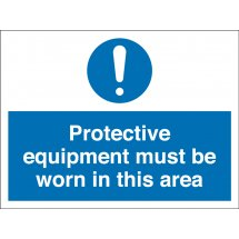 Protective Equipment Must Be Worn Signs