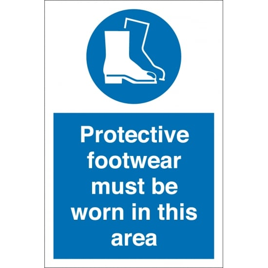 Protective Footwear Must Be Worn In This Area Signs