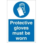 Protective Gloves Must Be Worn Signs
